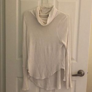 Free People white thermal sweater